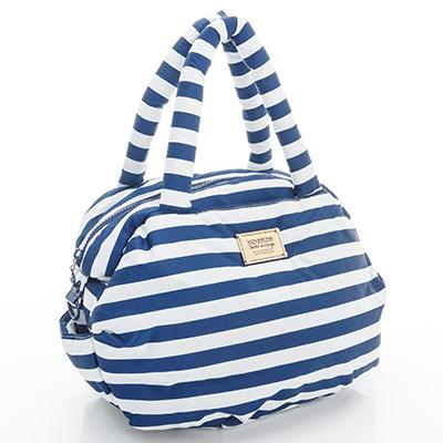 VOVAROVA空氣包-三用肩背托特包-經典條紋(藍)