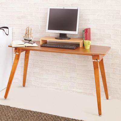 日本賀野家具 居家免組裝造型實木大桌面餐桌