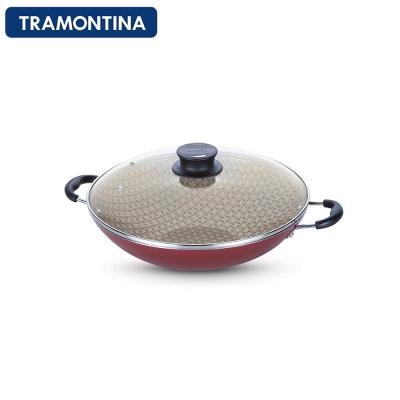 TRAMONTINA-Paris系列36公分專業炒鍋-紅色