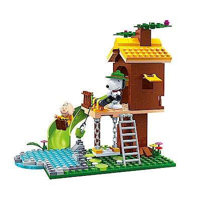 BanBao邦寶積木 史努比系列 Peanuts Snoopy 樹屋遊戲 7515