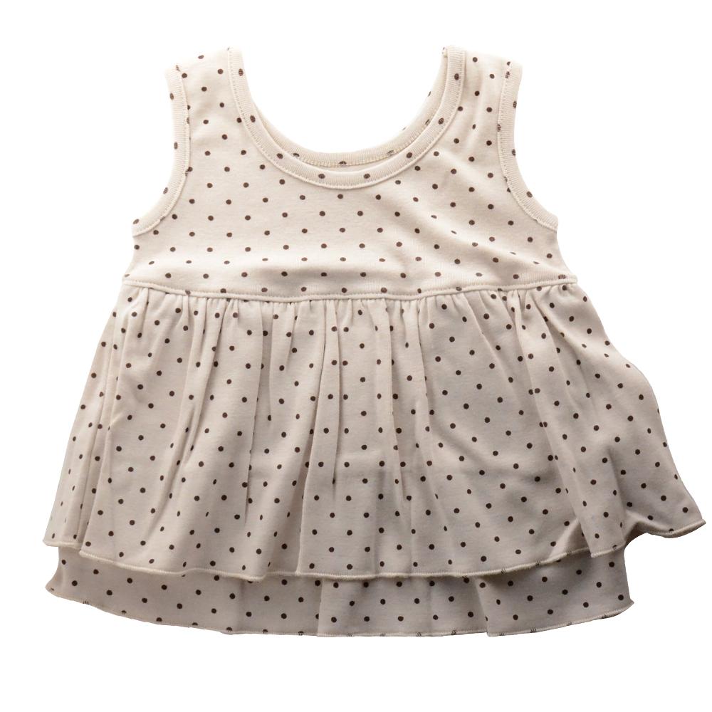【Anna Nicola】日本製- 水玉點點雙層小洋裝(米)