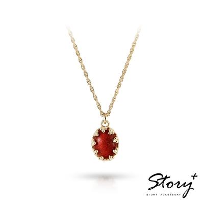 STORY故事銀飾-璽愛-天然寶石系列-花芯 純銀項鍊