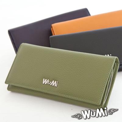WuMi-無米-真皮緹亞荔枝紋長夾-嫩芽綠