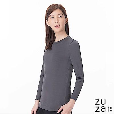 zuzai 自在發熱衣歸真系列女半高領長袖保暖衣-灰色