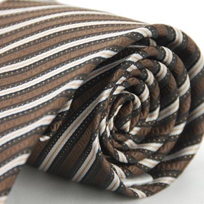 Alpaca 咖啡金白斜紋領帶