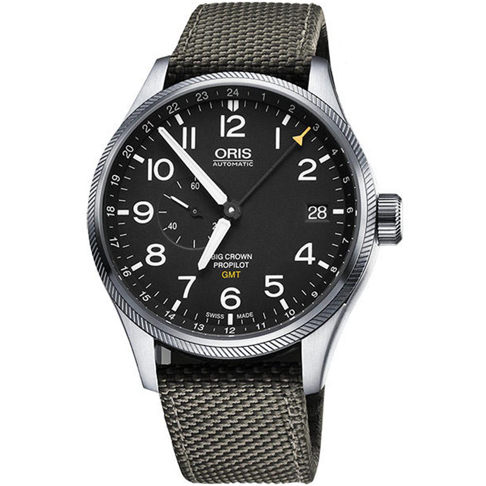 Oris豪利時 Big Crown ProPilot 雙時區機械腕錶-綠色/45mm
