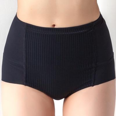 思薇爾 舒曼曲線系列修飾型高腰平口束褲(黑色)