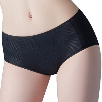 思薇爾 K.K.Fit系列M-XXL夜用中腰生理褲(黑色)