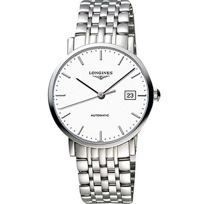 LONGINES Elegant 優雅系列機械錶-白/39mm L49104126