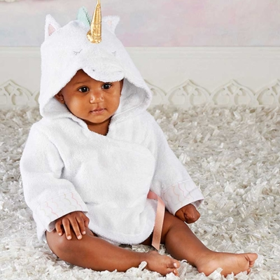 Baby Aspen BAS 小小獨角獸動物造型連帽浴巾
