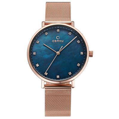 OBAKU 吾愛之名時尚米蘭帶錶-V186LXVLMV/37mm