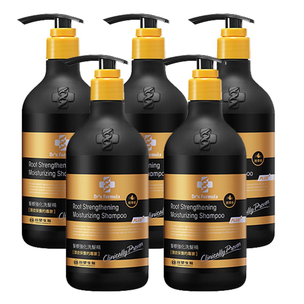 台塑生醫 Dr's Formula髮根強化洗髮精-潤澤感(升級版)580g*5入