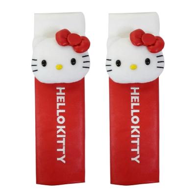 HELLO KITTY 經典皮革系列-安全帶護套(二入)