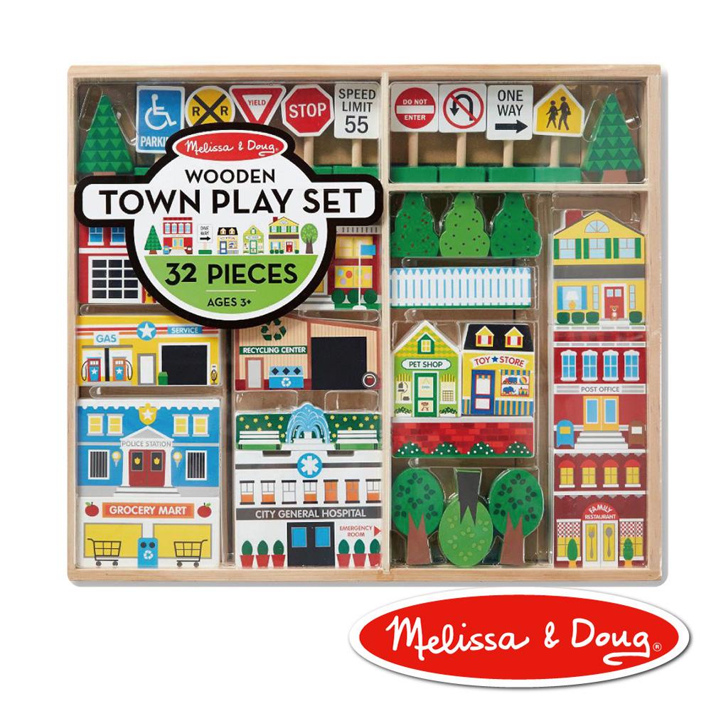 美國瑪莉莎 Melissa & Doug 交通木製城市遊戲組