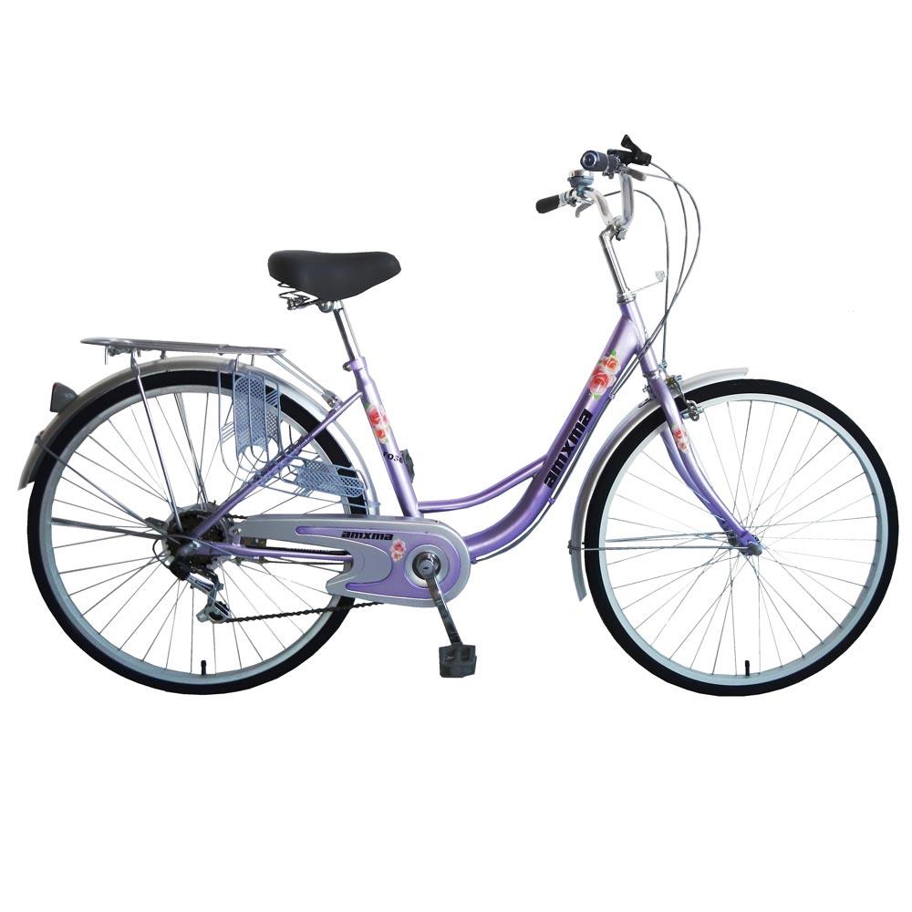 amxma 安適馬 薔薇 26吋6段變速淑女車(紫)