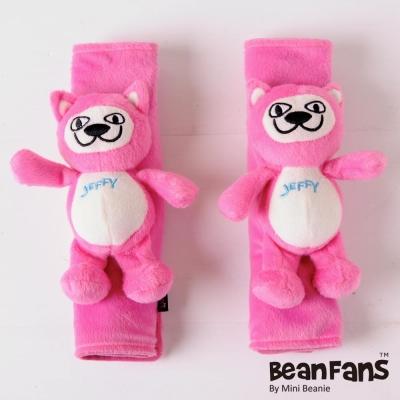 【Mini Beanie】Bean Fans 車用安全帶護套-Jeffy貓(桃紅)