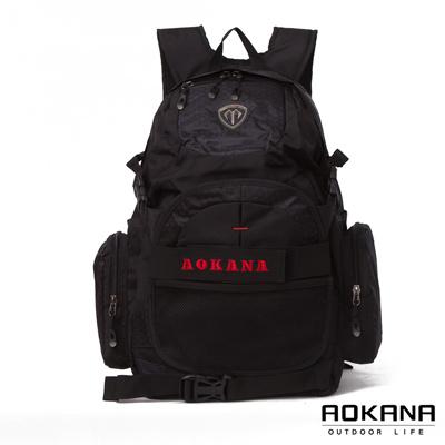 AOKANA奧卡納 台灣釦具 護脊紓壓電腦後背包 可收納籃球(紅標)68-069