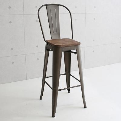 微量元素 復刻新工業榆木吧台椅