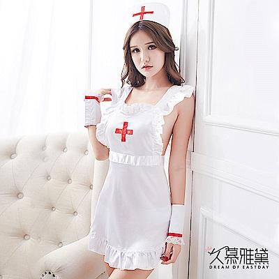 角色扮演服  純白乖巧5件式小護士 久慕雅黛
