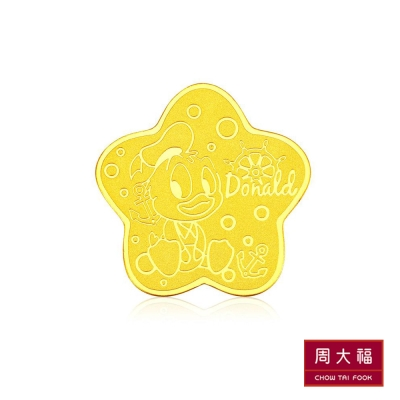 周大福 迪士尼經典系列 活潑可愛黃金金章/金幣