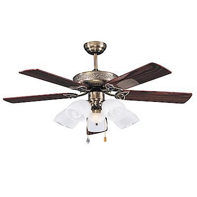 領航者 美力銅52吋吊扇+多燈組SR219220