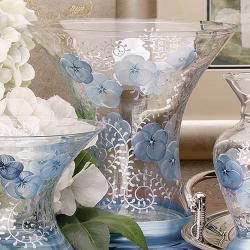 Madiggan鬱金香彩繪玻璃彩繪花瓶-大-(藍色.紫紅可選)