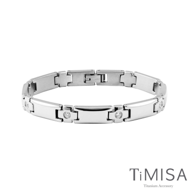 TiMISA《晶典十字》純鈦鍺手鍊