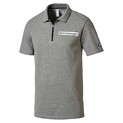 PUMA-男性BMW系列經典短袖POLO衫-中麻花灰-歐規