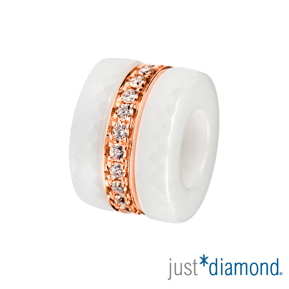 Just Diamond  Day&Night系列鑽石吊墜-Triple rings(白)