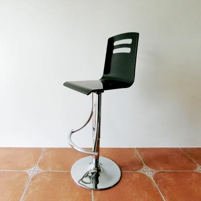 Amos-精品壓克力高背簡約升降吧檯椅