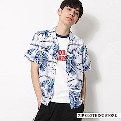 開領花襯衫(6色) ZIP日本男裝