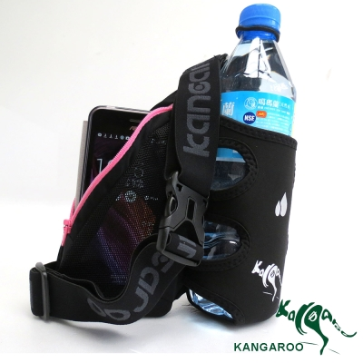 KANGAROO休閒單水壺腰包(酷線粉) K140119005 運動腰包 臀包