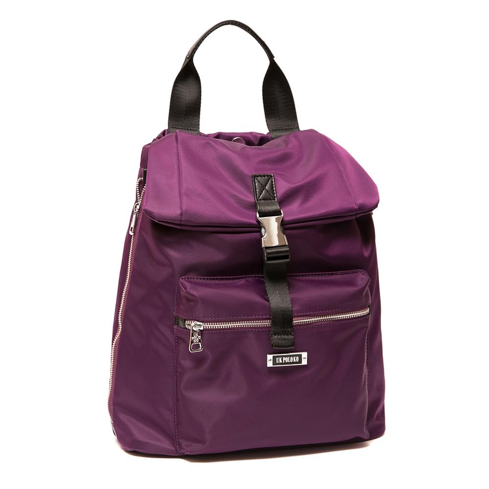 ANGIMI SHOP 後背手提韓版熱銷雙造型包-紫色