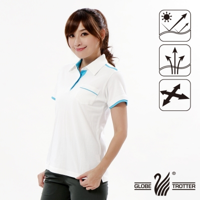 【遊遍天下】女款抗UV吸濕排汗機能POLO衫GS10013白色