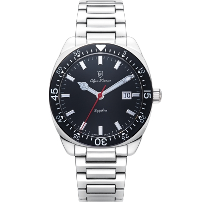 奧柏表 Olym Pianus 經典豪情石英腕錶-黑 5707MS
