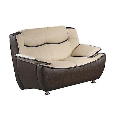 品家居 艾普森皮革獨立筒沙發雙人座-144x93x94cm免組