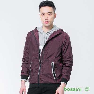 bossini男裝-休閒風衣外套01酒紅