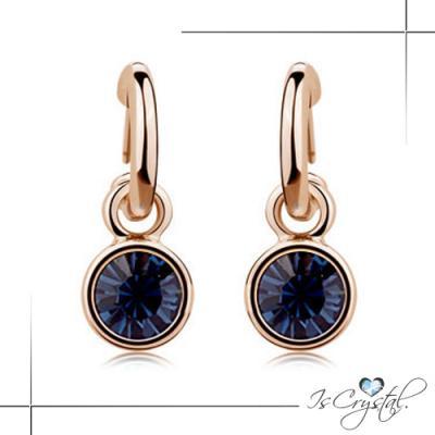伊飾晶漾iSCrystal 簡約優雅 圈式水晶耳環 二色可選