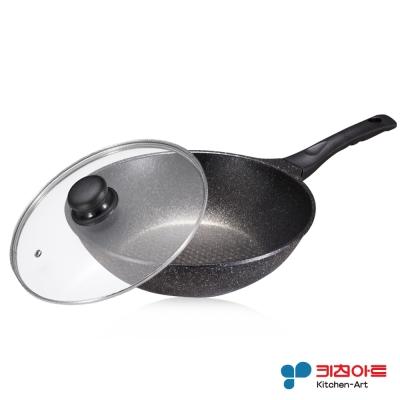 韓國Kitchen Art 原石炒鍋組28cm(含蓋)