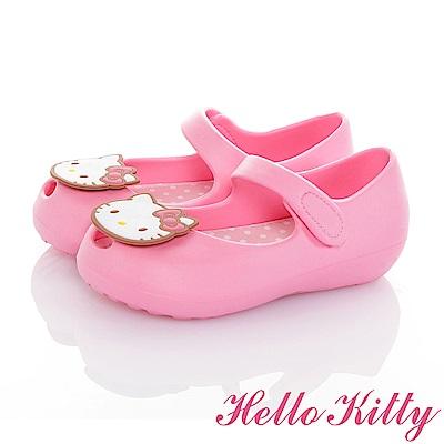 HelloKitty 極輕量Q彈魚口娃娃童鞋-粉