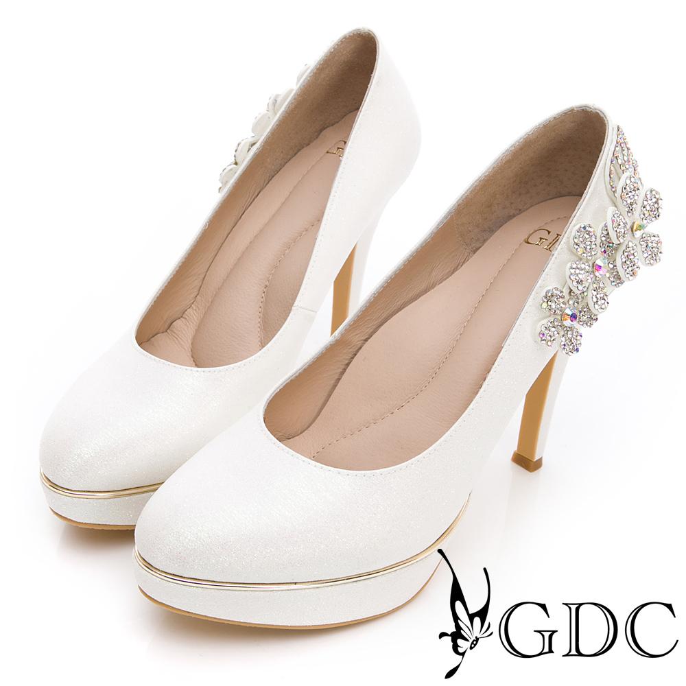 GDC-貴氣逼人水鑽嬌美質感新娘鞋-白色
