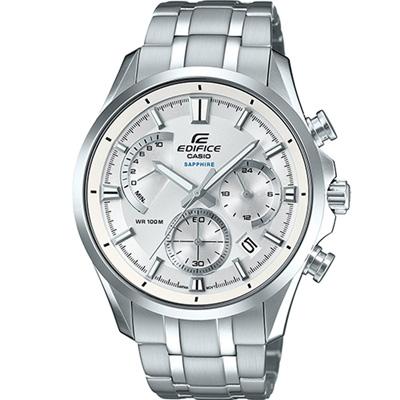 EDIFICE 扇形儀錶板設計計時錶(EFB-550D-7A)-白/43.5mm