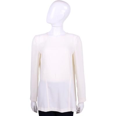 PHILOSOPHY 白色後打褶設計長袖上衣
