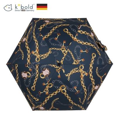 德國kobold酷波德 蘑菇頭系列-6K超輕巧抗UV五折傘-艾瑪灰