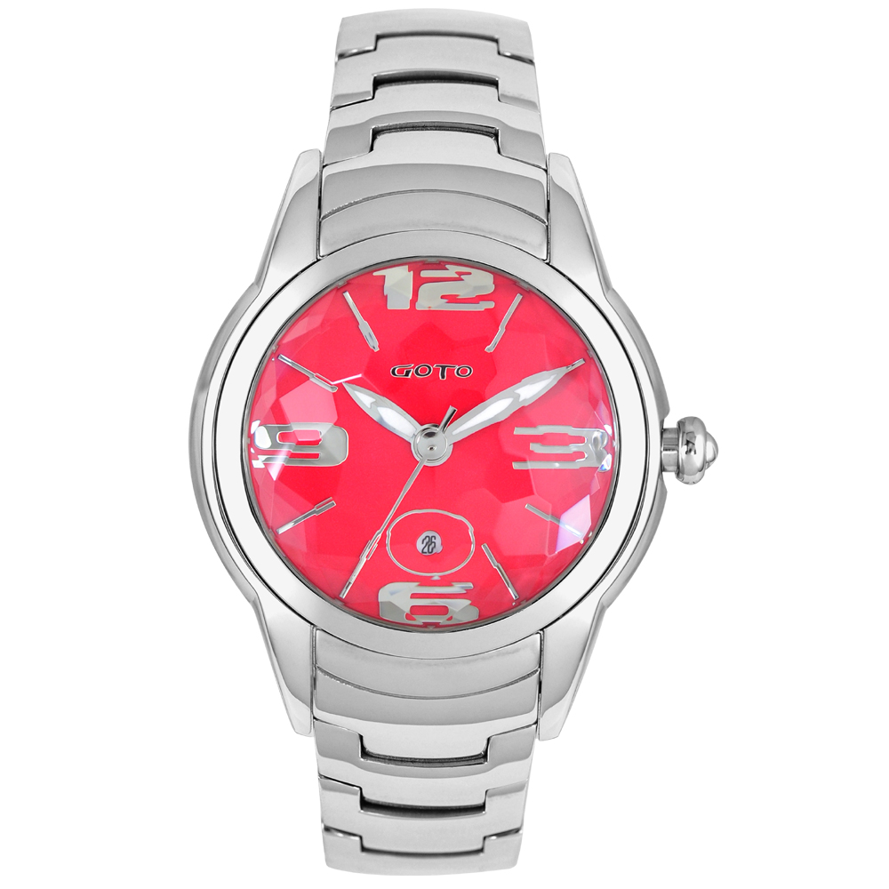GOTO L.O.V.E系列腕錶-熱情紅色/38mm