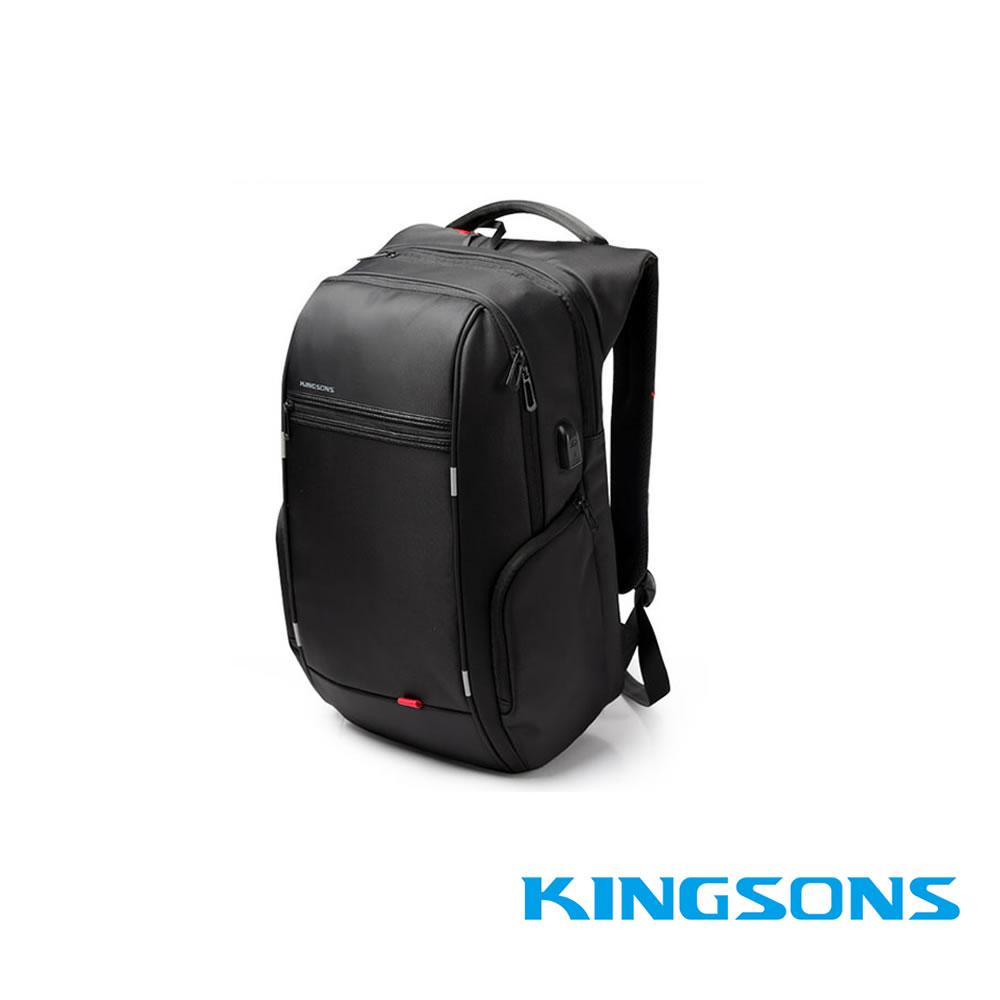 Kingsons-ks3140w 15.6吋 USB行動充電 電腦後背包 A款