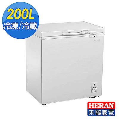 [福利品]HERAN禾聯 200L冷凍櫃(附玻璃拉門)HFZ-2062