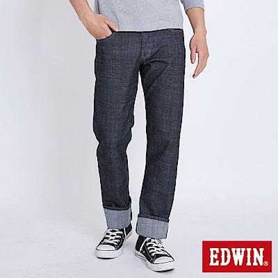 EDWIN EDGE LINE 順向複刻版中直筒牛仔褲-男-牛仔黑