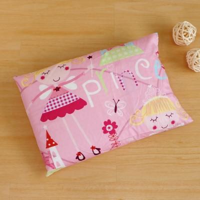 鴻宇HongYew 美國棉防蹣抗菌 公主城堡粉-兒童標準乳膠枕