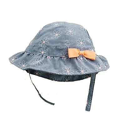 春夏兒童清新小花牛仔盆帽